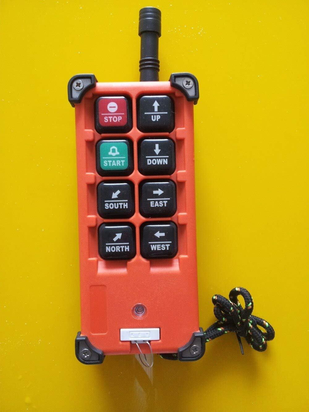 Calvas Telecrance F21-E1B Industrial radio remote control for crane and hoist VHF:310-331MHZ 65-440V Color: UHF425-446MHZ18-65V