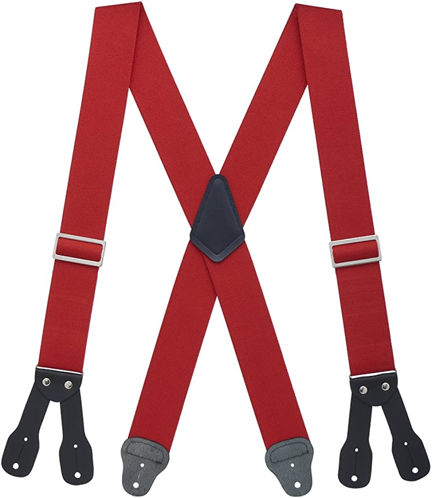 SuspenderStore Men's Logger Suspenders - BUTTON (4 sizes, 5 colors)