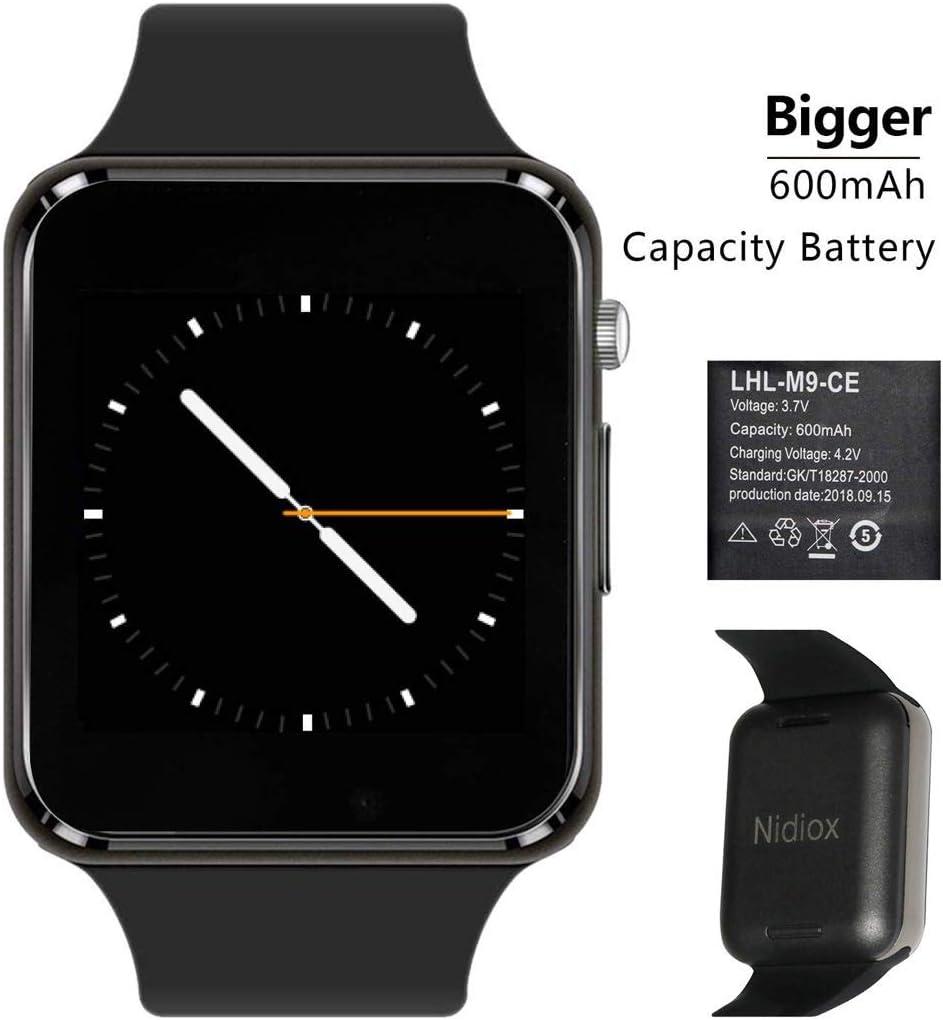 Smart Watch Nidiox Sport Smart Wrist Watch Bluetooth Smartwatch with Sleep Monitoring Call Message Reminder Anti Lost Fitness Tracker Camera Pedometer ...