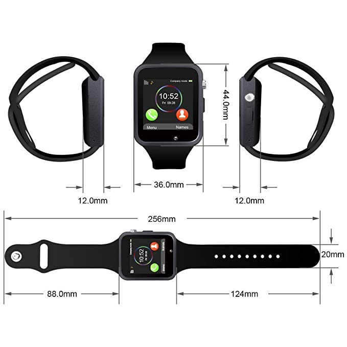 Viwel® W88 whatsapp facebook twitter Bluetooth 3.0 Reloj ...