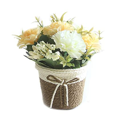225 & Amazon.com: Artificial Flowers in Pots Assorted Carnation ...