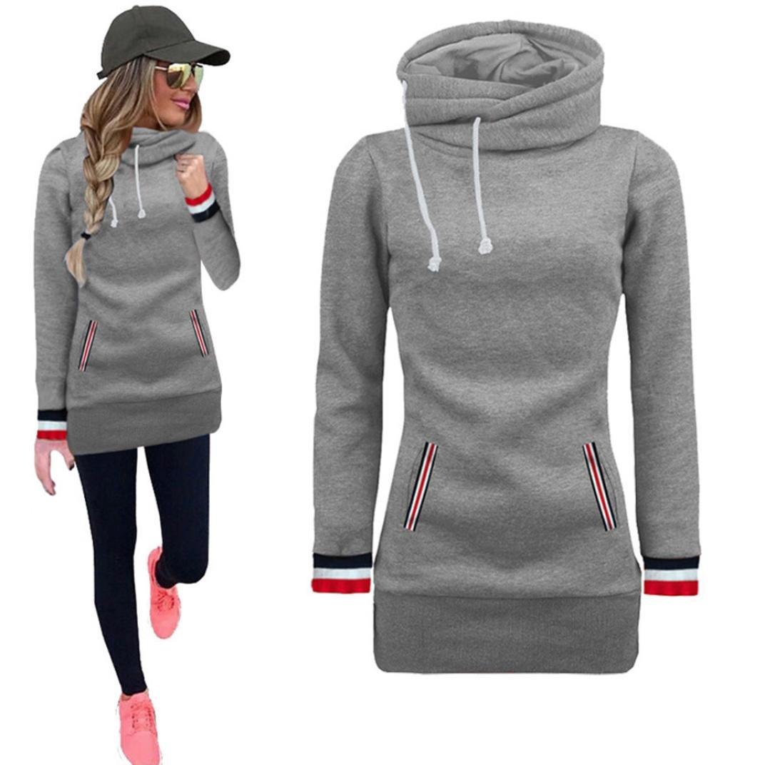 LMMVP Sudadera Mujer Blusa de Manga Larga suéter Jersey Tops by: Amazon.es: Deportes y aire libre