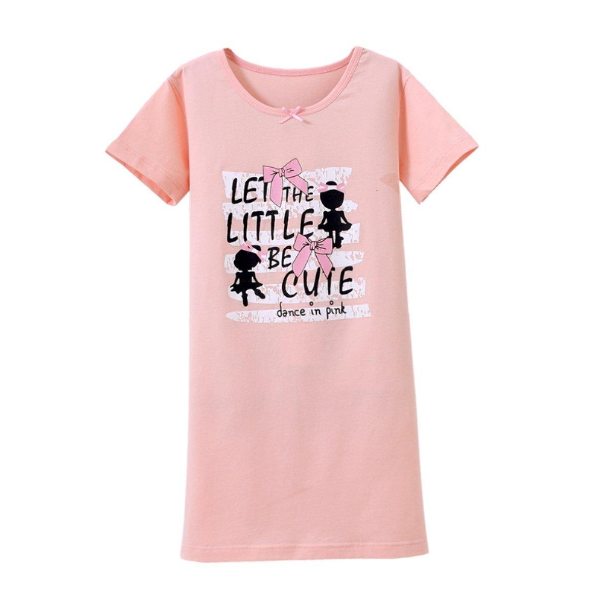 HOYMN Baby Girls' Princess Nightgowns Bowknot Sleep Shirts Cotton Sleepwear