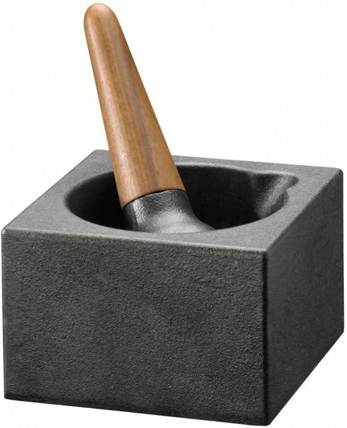 SKEPPSHULT - Mortero (Hierro Fundido, 12 cm), Color Negro