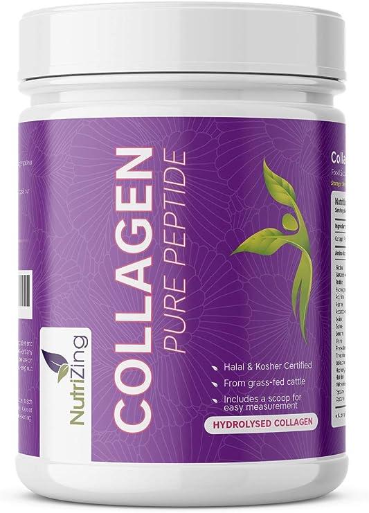 NutriZing Colágeno Hidrolizado en Polvo - Proteína sin Sabor de Ganado Alimentado con Pasto - Colágeno puro sin aditivos - Para Hombre y Mujer - ...