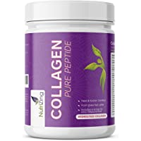 HYDROLYSED Bovine Collagen Protein Powder - Beef Protein Supplement from Grass Fed Cattle -100% Natural & Easy to Dissolve- Hydrosylate Peptides with Amino Acids by NutriZing - 10,000mg dose - Halal