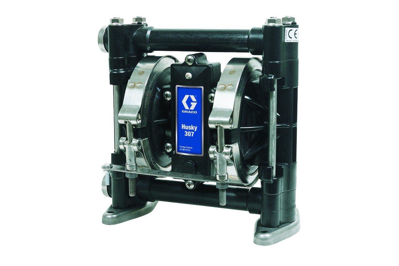 Graco Husky D31211 Acetal Double Diaphragm Pump, 3/8'', 7 GPM