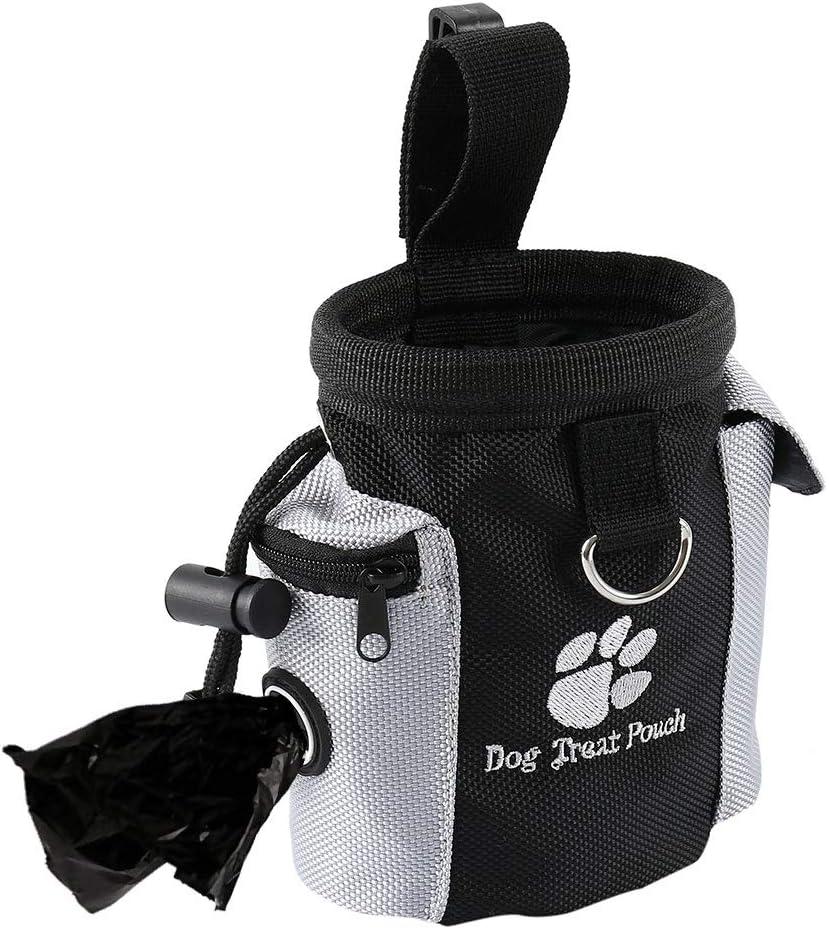 Comficent Futterbeutel f/ür Hunde Praktischer Leckerlibeutel mit Integriertem Hundekotbeutel Spender