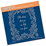 Groovi Embossing A5 Square ~ Leafy Frame, GRO40444