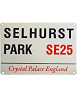 CRYSTAL PALACE F.C. SELHURST PARK SE25 MINI STREET SIGN