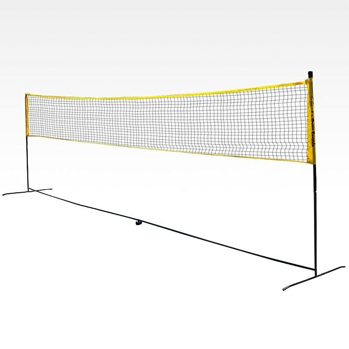1 opinioni per Rete portatile da badminton, misure regolamentari 6,10 x 1,55 m, trasformabile
