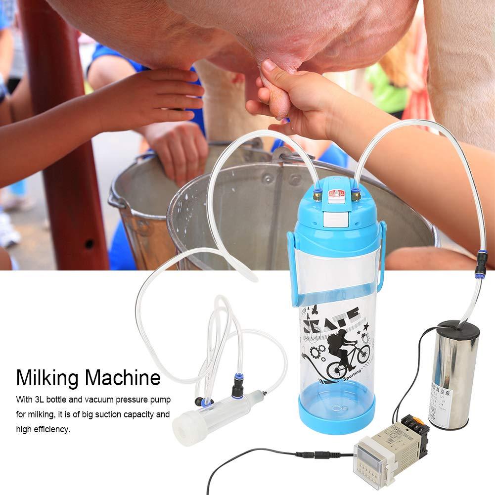 Fdit 3L Portable Electric Milking Machine Sheep Cow Goat Milking ...
