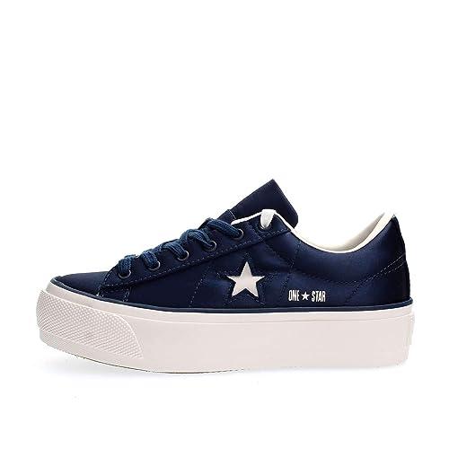 Converse 560988C One Star Platform OX Zapatillas DE Deporte Mujer: Amazon.es: Zapatos y complementos