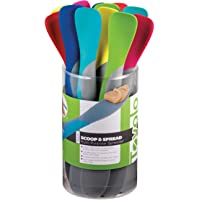 Tovolo Silicone Mini Scoop and Spread cdu, Assorted Colors, 1.2 Ounce, May Vary, 1 EA (Aug-16)