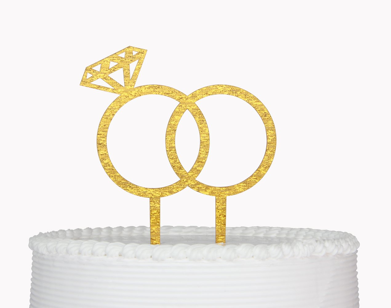 Amazon.com: Diamond Ring Cake Topper, Engagement,Wedding Party ...