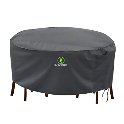 Outdoor Patio Furniture Covers, Waterproof UV Resistant Anti-Fading Cover for Medium Round Table Chairs Set, Grey, 72 inch Diameter : Garden & Outdoor