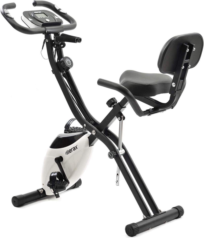 Merax Bicicleta de ejercicios plegable blanca, bicicleta de ...