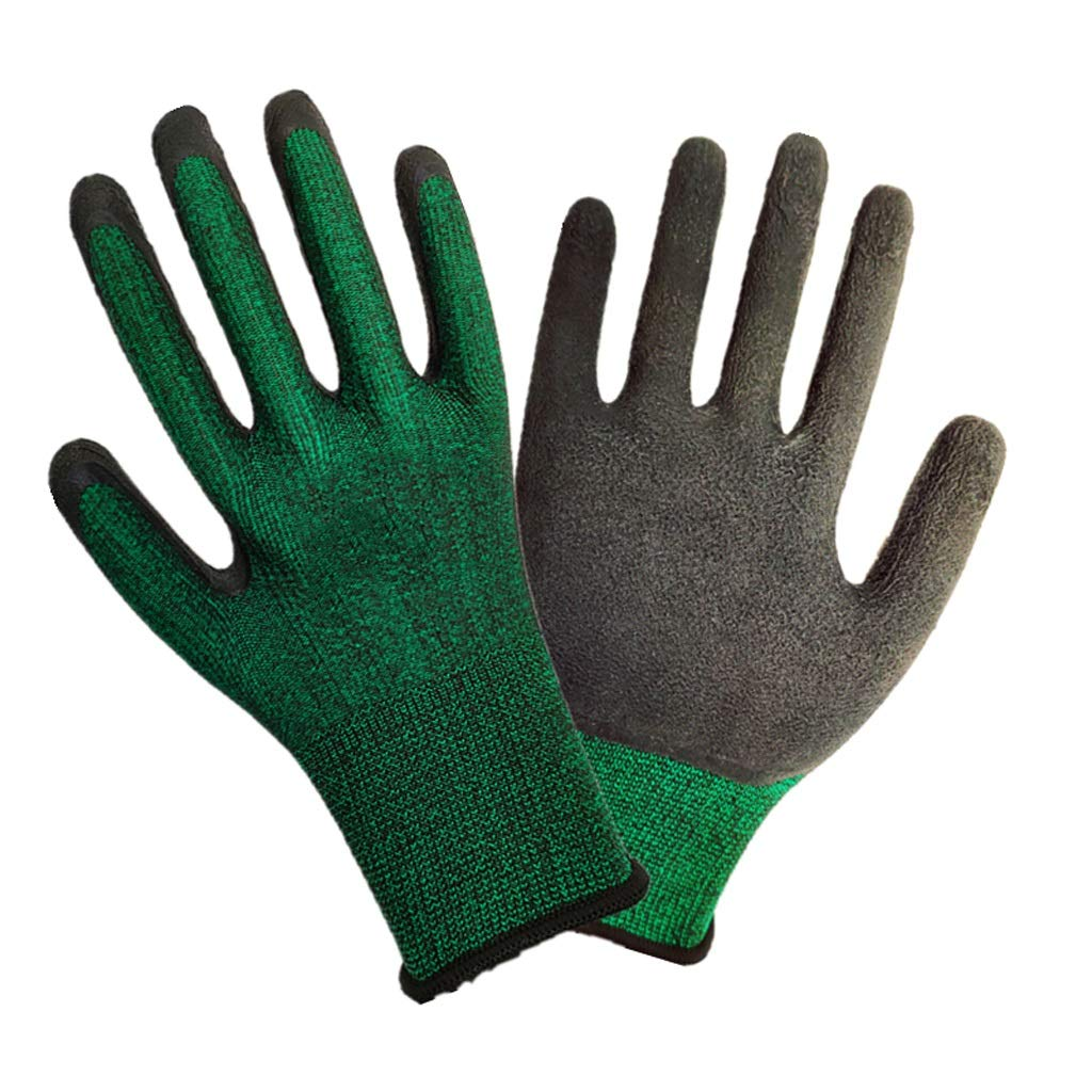 LZRZBH 12 Pairs of PU Coated Work Gloves for Versatile, Architectural and Horticultural Women's and Men's Protective Gloves (Size L Green/Purple,) (Color : B)