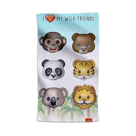 Emoji® Toalla Animales I Love My Wild Friends (80x160cm)