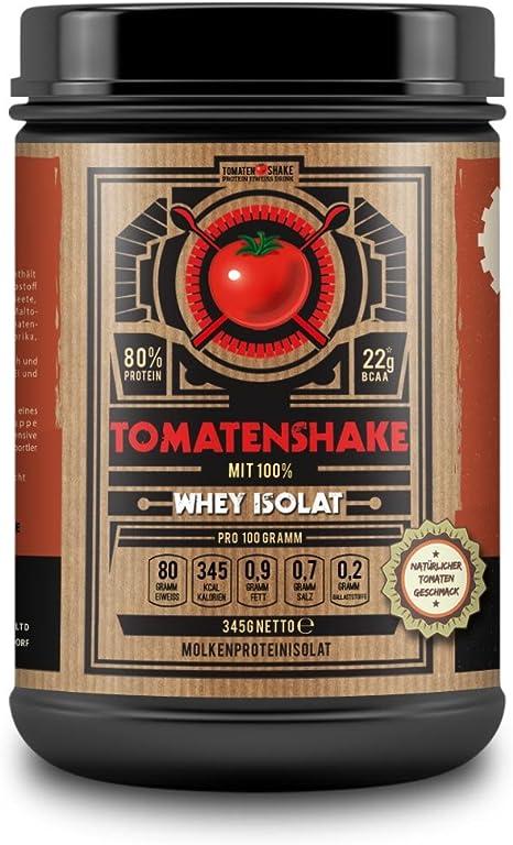 TOMATENSHAKE, AISLADO de proteína de suero, Batido de proteínas, Sabor a tomate, sin edulcorante, 345g