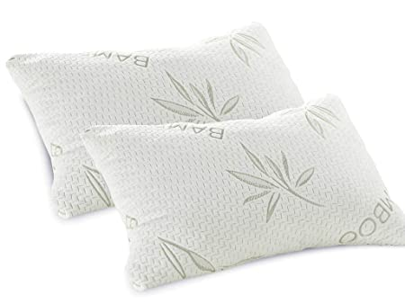 LUXURY MEMORY FOAM BAMBOO PILLOW SET OF 40 Amazoncouk Kitchen Best Bamboo Covered Memory Foam Pillow