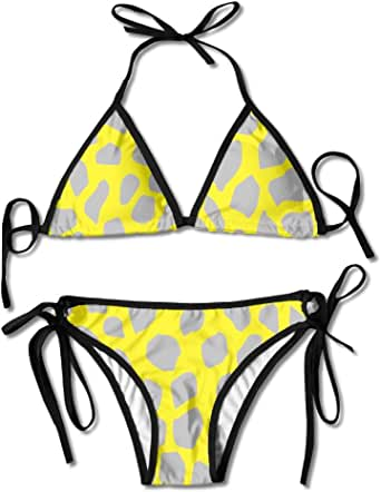 Amazon.com: Pin-1 PIN Yellow Deerskin Pattern Swimsuits