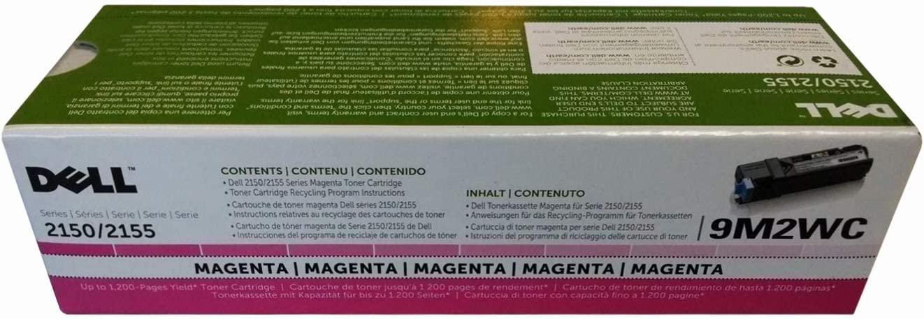 Dell Computer 9M2WC Magenta Toner Cartridge 2150cdn/2150cn/2155cdn/2155cn Color Laser Printers