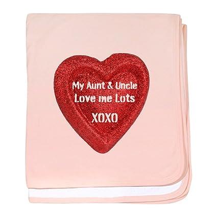 CafePress mi tía y el tío amor me – Manta para bebé – manta para bebé