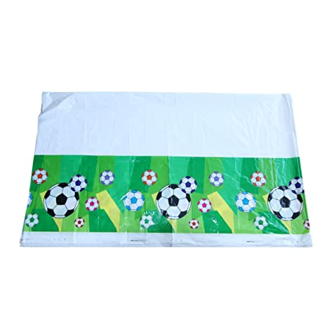 Mantel desechable rectangular con temática de fútbol, para ...