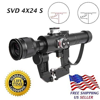 Sniper SVD Dragunov 4x26S Hunting Rifle Scope Illuminated Rangefinding  Reticle