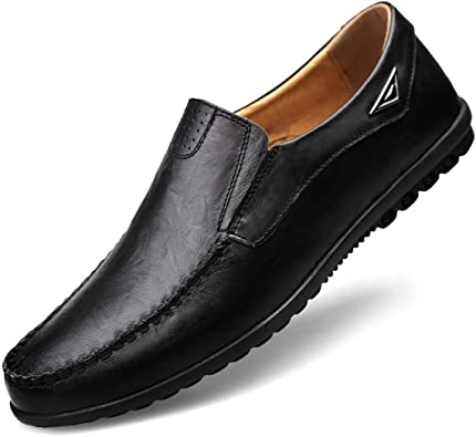 Mens Shoes Classic Shoe Driving Shoes Fashion Man Genuine Leather Loafers Black 10M US