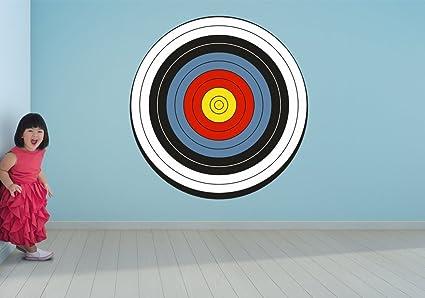 Amazon.com: Archery Target Bullseye Wall Art Decal Sticker: Home ...