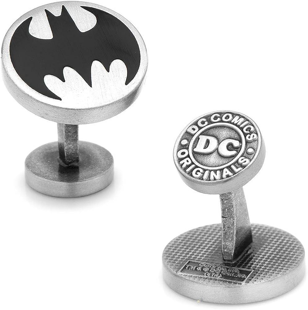DC Comics Vintage Batman Logo Cufflinks, Officially Licensed