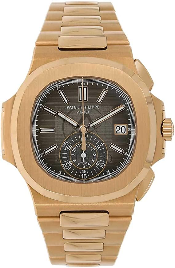 Amazon.com: PATEK PHILIPPE NAUTILUS 40MM ROSE GOLD MEN'S WATCH 5980/1R-001  UNWORN: Watches