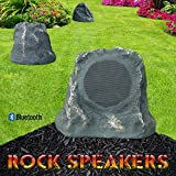 Bluetooth Outdoor Rock Speaker (Grey Slate) - Stereo pair by Sound Appeal