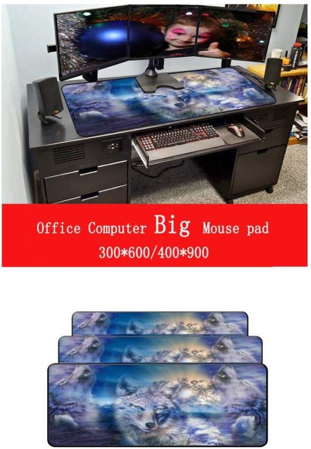 WHFDSBDMouse Pad Big Black Lock Edge Keyboard Desk Mousepad Mat Gamer Anti-Slip Rug
