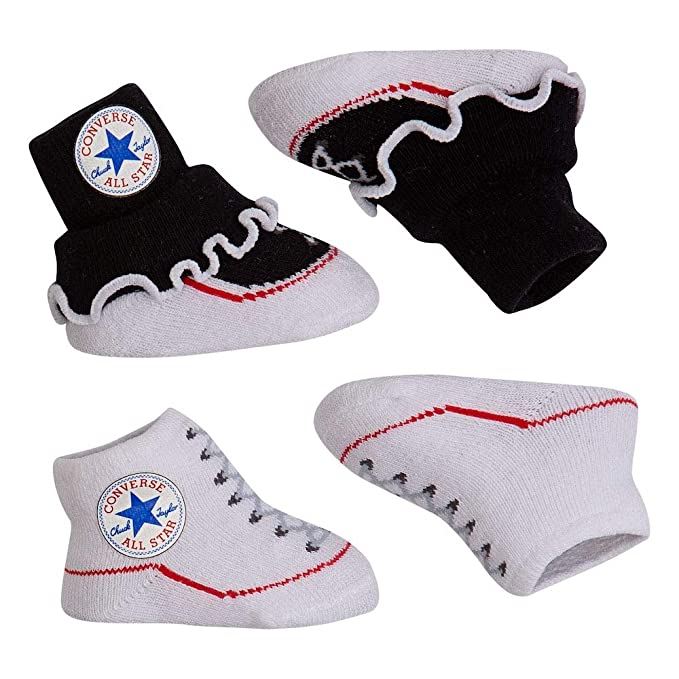 d32b9a43a5c6 Converse Baby-Girls 2 Pack Booties Socks  Converse  Amazon.co.uk  Clothing