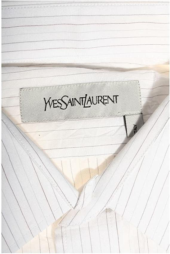 Yves Saint Laurent - Camisa casual - para hombre Bianco Large ...