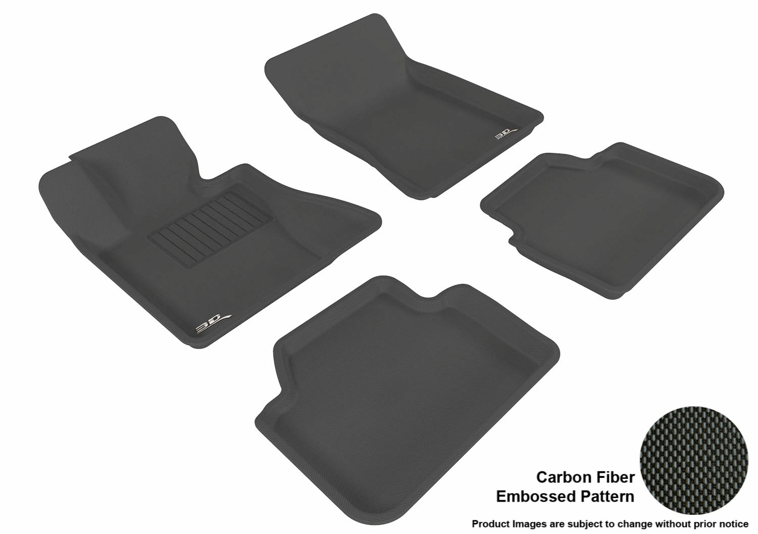 Kagu Rubber 3D MAXpider Front Row Custom Fit All-Weather Floor Mat for Select BMW X3 Gray E83 Models L1BM01211501