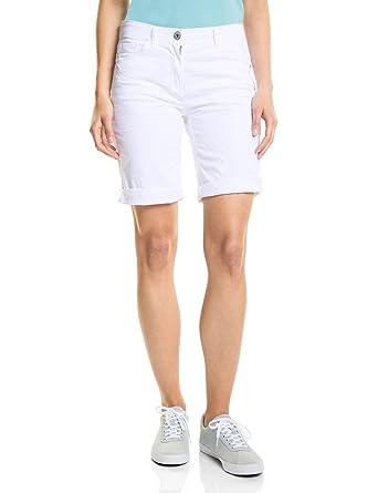 4de3b3ff62a126 Cecil Damen 371360 Scarlett Shorts White Bermuda, Weiß Denim 10438, W26