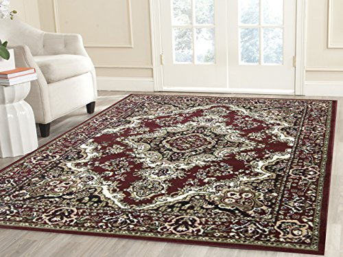Msrugs 108 Area Rugs, Clearance Rugs for Living Room Rugs, 5′ L x 8′ W, Red