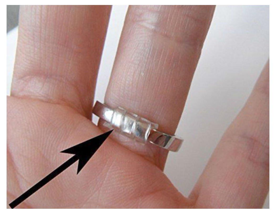 com ringuard ring size adjuster set of 3 sizes arts - Plastic Wedding Rings