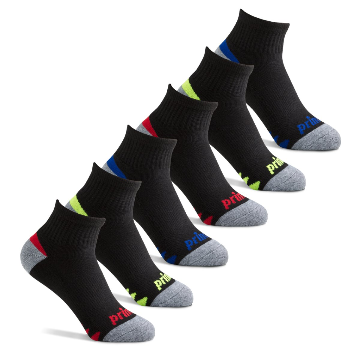 c336ad7b2 Prince Boys  Quarter Length Athletic Socks with Cushion for Active Kids  product image