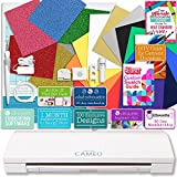 Silhouette Cameo 3 Bluetooth Heat Transfer T-Shirt Vinyl Bundle with Siser Vinyl, Swatch Book, Guides, Class, Membership and More