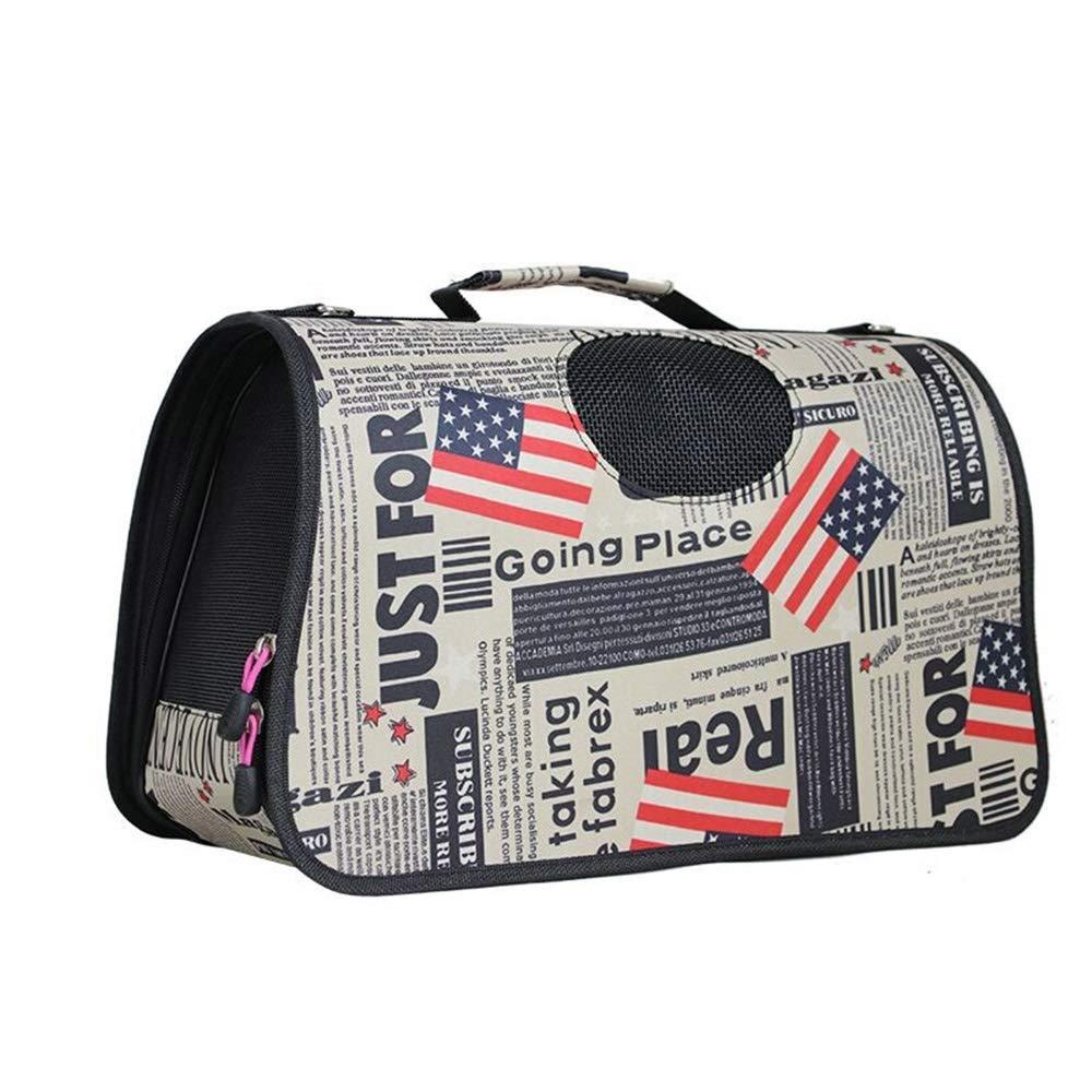 B 45X230X26CM B 45X230X26CM Jian E& Pet Bag Cat Bag Out Carrying Bag Pet Bag Travel Bag Teddy Bomei Portable Diagonal Bag Cat Folding Breathable Cage (color   B, Size   45X230X26CM)
