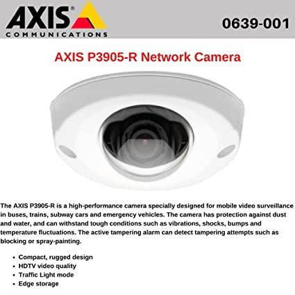 Driver: AXIS P3905-R Network Camera