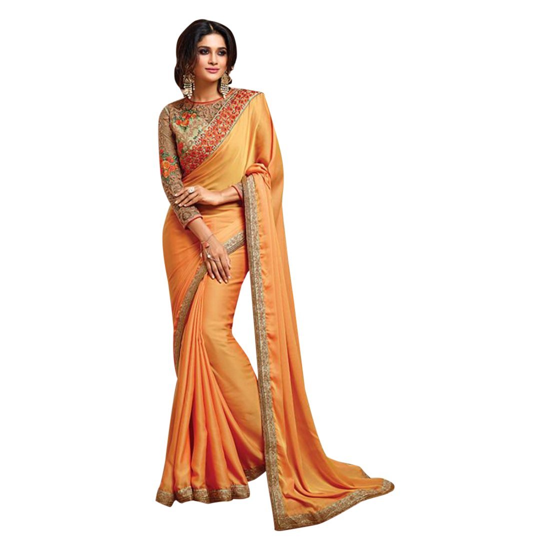 Designer Bollywood Saree Sari for Women Latest Indian Ethnic Collection Blouse Party Wear Festive wedding 943 10