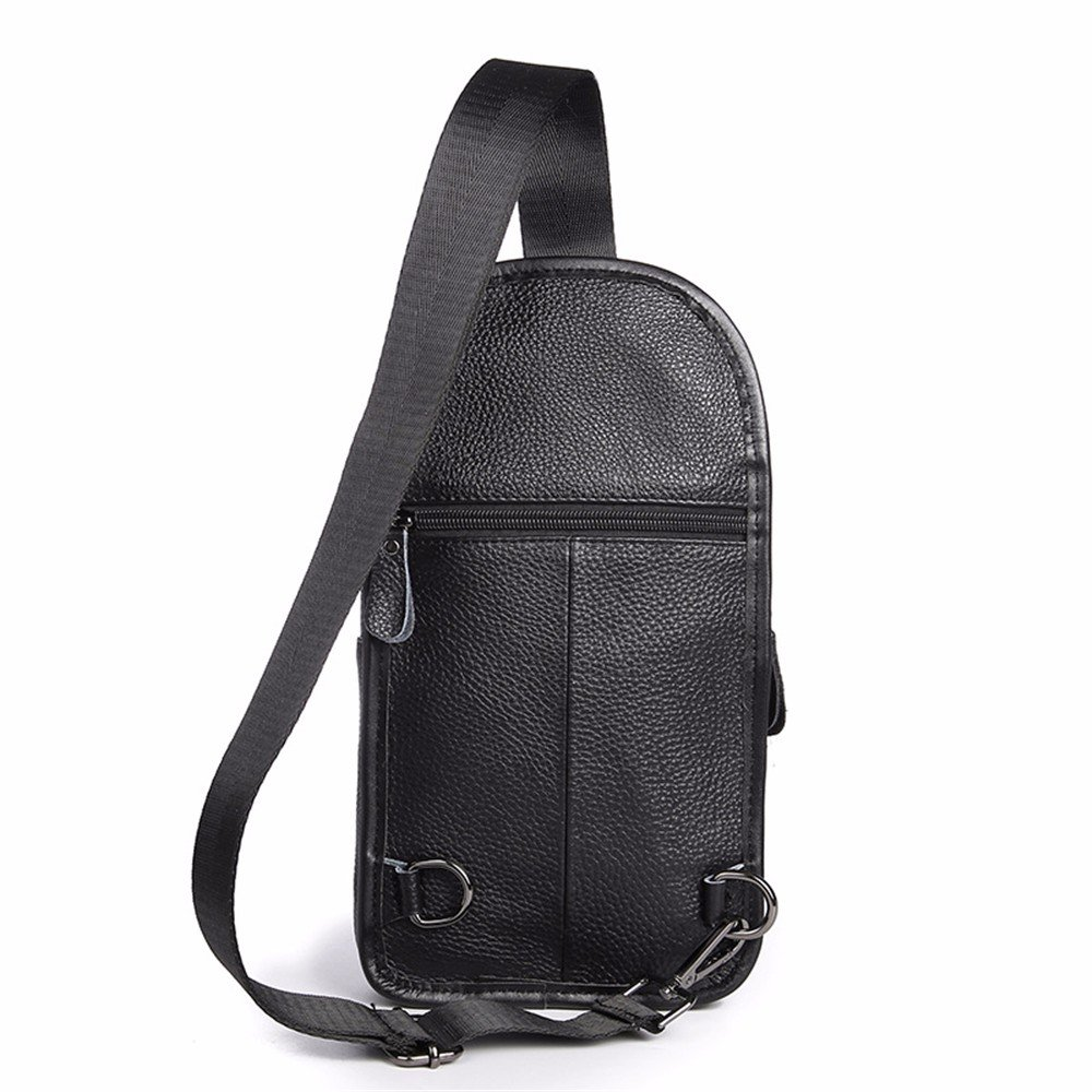 WanJiaHerrenhop Men's Casual Bag Leder Brust Tasche Männer Bags, 16 x 6 x 30 cm
