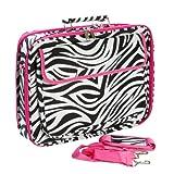 Zebra Hot Pink Laptop Bag Case 17-Inch