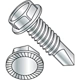 Hex Washer Head Pack of 100 1 Length Pack of 100 #8-32 Thread Size Zinc Plated Finish Small Parts 08163W 1 Length Steel Thread Cutting Screw Type 23